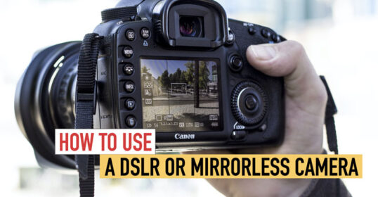 how to use dslr