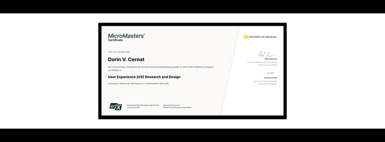 ux research micromasters dv