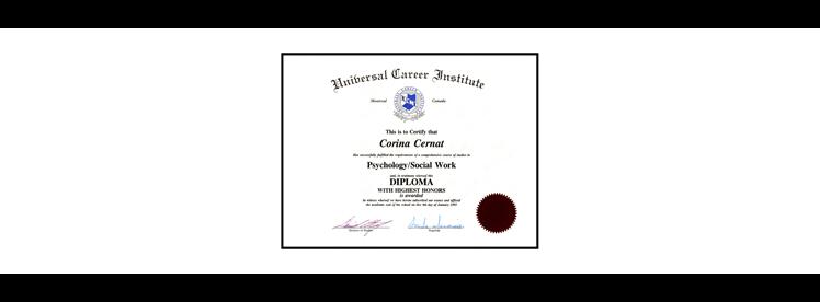 Corina C - Diploma in Psychology