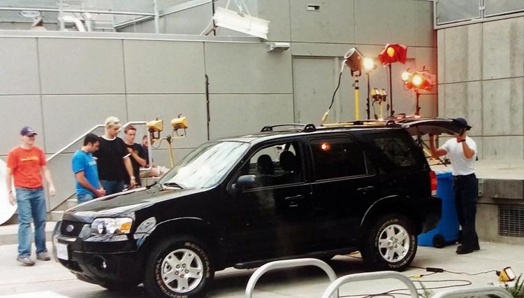 dorin and victoria team filming SUV scene