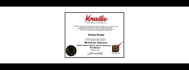 Corina C - Versaille Diploma