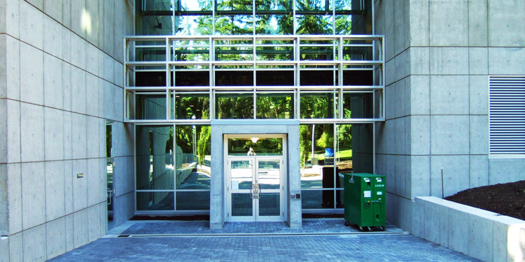 engineering and computer science building entrance